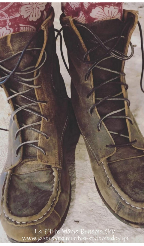 Jack, All Leather Australian Outback Lace Up Boots In Weathered