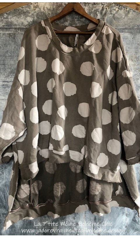 Hi Lo  Francis Oversized Pull-over En Fawn...J'adore