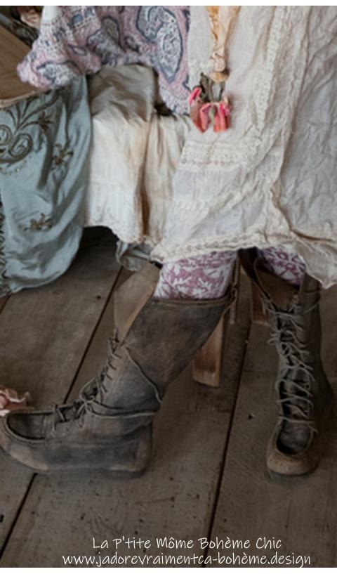 Jackson Boots à Lacets Hautes En Weathered Boots Hautes Entièrement En Cuir