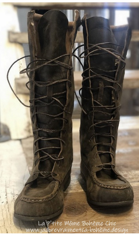 Jackson All Leather Lace Up Boots In Weathered