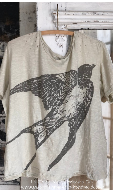 Starling T-Shirt En Moonlight, Coupe New Boyfriend  Imprimé
