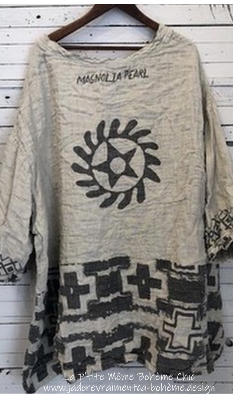 Francis Oversized Quilted Pullover Native American Graphics J'adore