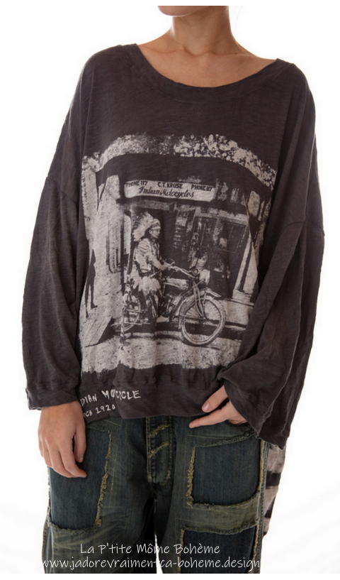 Hi Ho Francis Oversize Pull-Ove rIndian Moto In Ozzy  Hand BlockPrinted