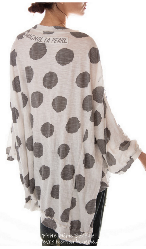 Hi Lo Francis Oversize Pull-Over In Sunny Hand BlockPrinted