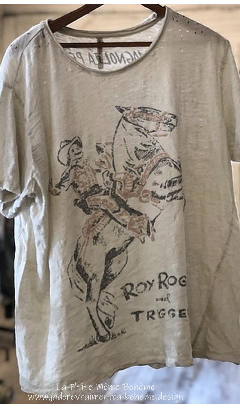 Trigger T-Shirt En Moonlight, Coupe New Boyfriend  Imprimé