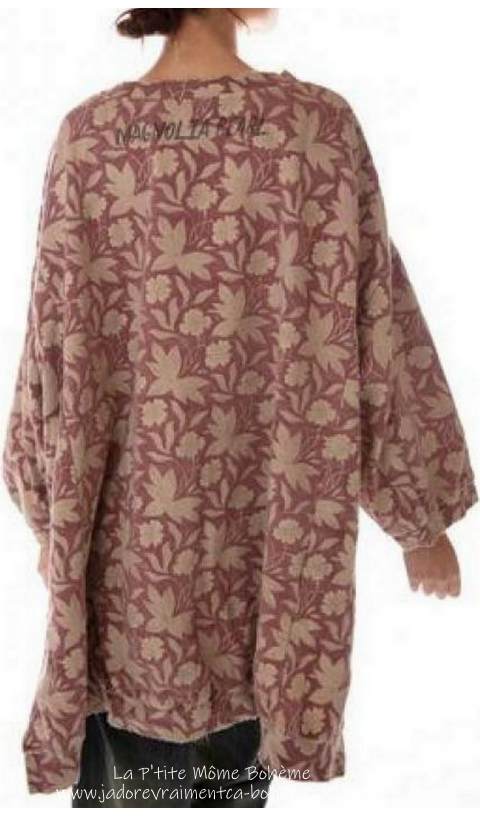 Hi Ho Francis Oversize Pull-Over In Kaedee Hand BlockPrinted