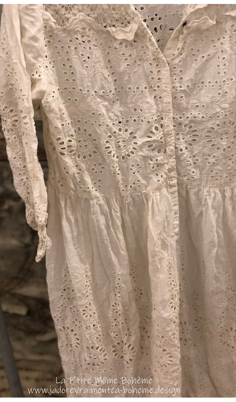 In Progress Colette Dress in Moonlight with Lace and Embroidery