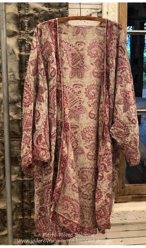 Kimono/Redingote En Antje Impression Main