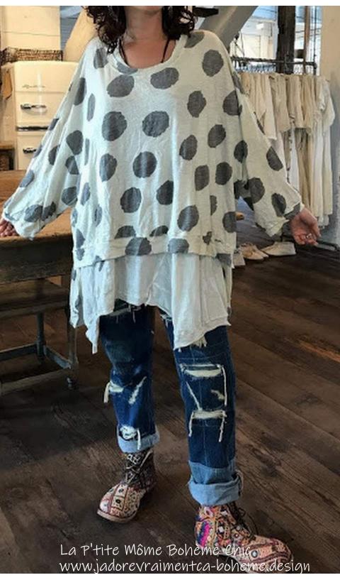 Hi Lo  Francis Oversized Pullover En Sunny...J'adore