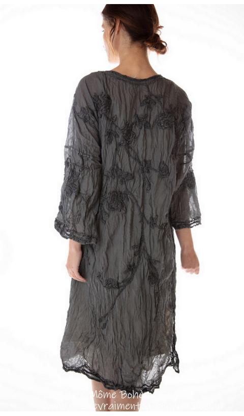 Constance Kimono Jacket In Coal