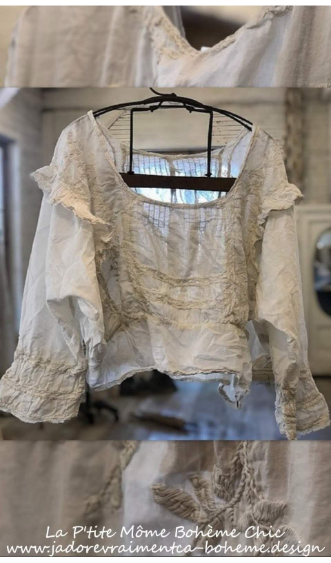 Lucia Blouse Embroidred & Lace In Moonlight Beautiful Wear