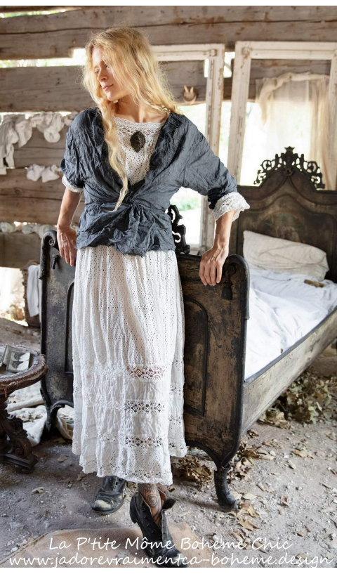 All Eyelet Billie Ann Dress with Crochet & Lace