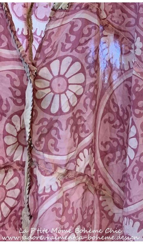JAYA KAFTAN In Hawn-Sixties sunfading, patching, hand mending