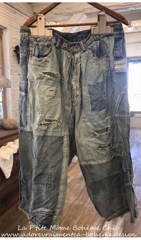 BECK JEANS +fading, distressing &patching