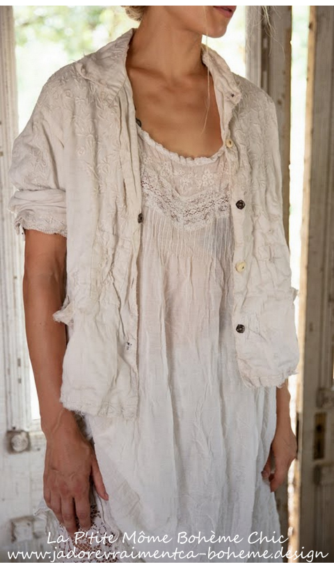 Ramie Anneli Embroided Jacket n Moonlight Linen & Lace