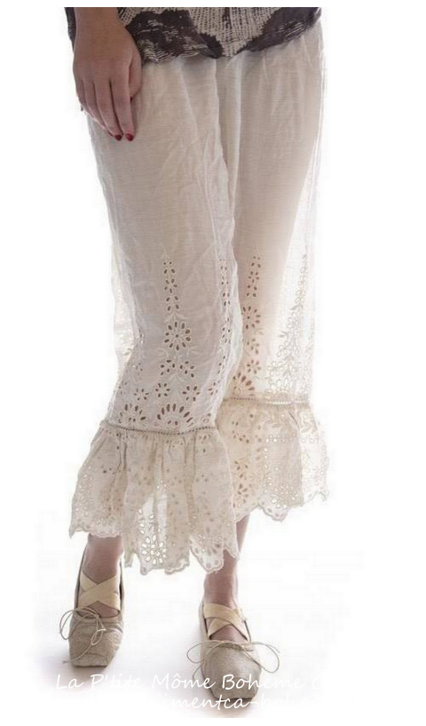 Wedding Night Bloomers with Floral Embroidery