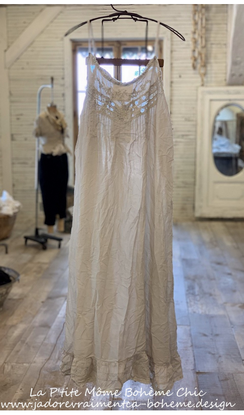 Minette Day Slip In Moonlight, Lace & Embroideries