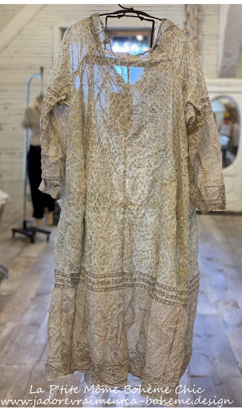 Talulah Artist Smock Dress with Fading and Raw Edges