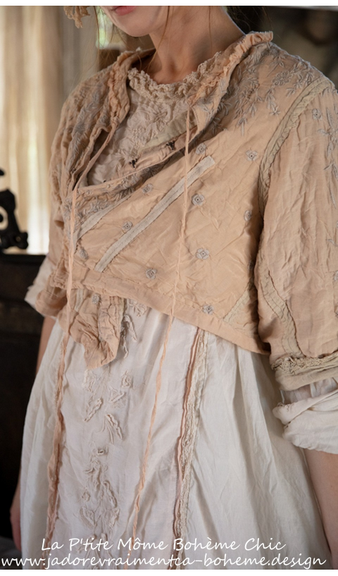 Inna Embroidered Jacket with Silk Details & Lace