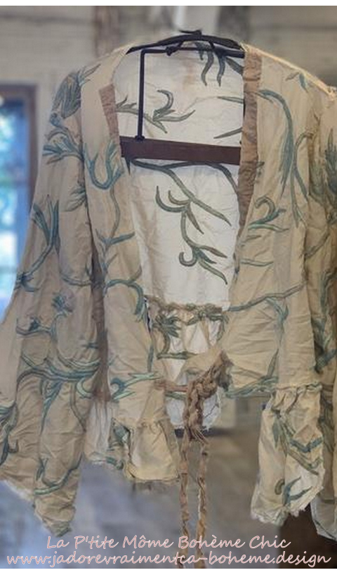Krewel Work Lise Lotte Piano Shawl Embroidered Jacket with Silk Patches