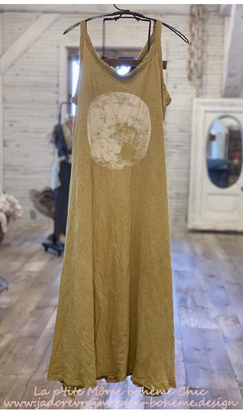 Lana-Moon Robe T-Shirt En Marigold Sans Manches