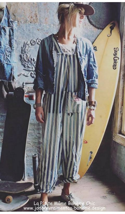 Gus Overall's Denim In Railroad With Hand Aging