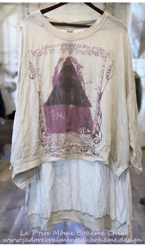 Hi Lo Sufi Francis Oversized Pullover En Moonlight