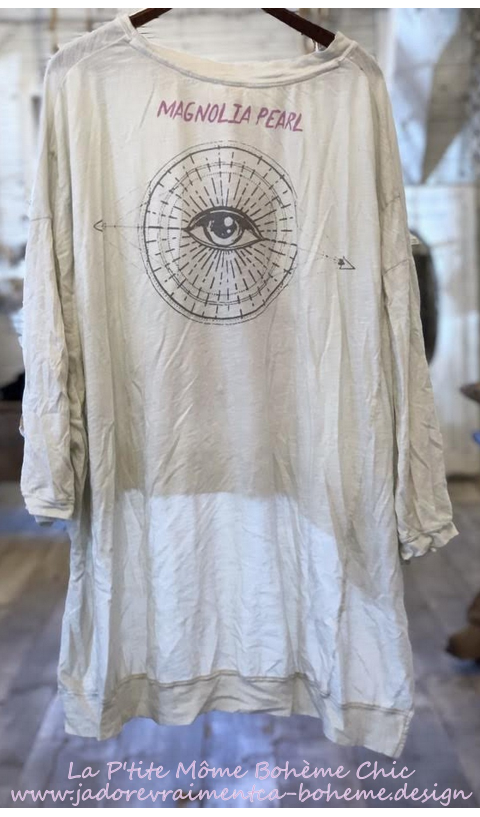 Hi Ho Sufi Francis Oversize Pull-Over In Moonlight Hand BlockPrinted
