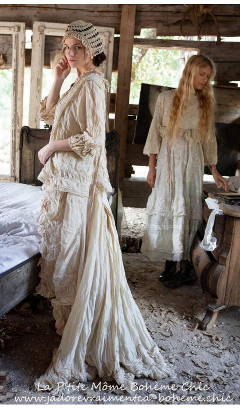 Ramie Livia Slip Dress Embroidered And Ruffles