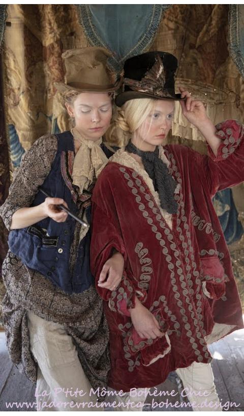 Velvet Kryssa Coat with Embroidery, Hand Mending