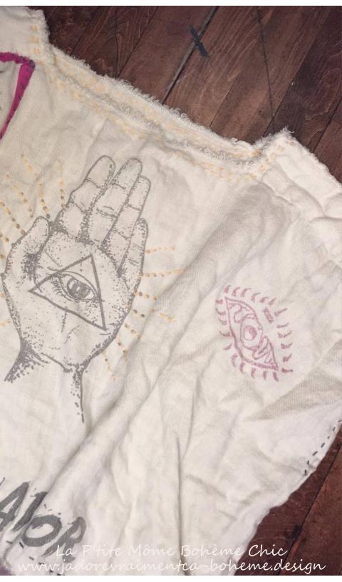 Sufi Bretta Blouse 2 ways to wear In Moonlight Hand BlockPrinted