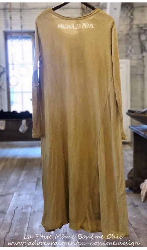Babydoll Tee Dress In Marigold