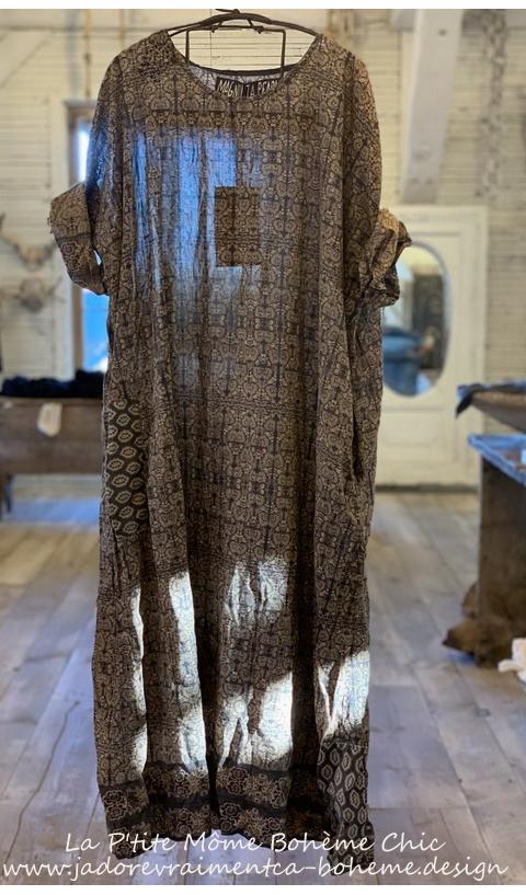 Nara Smock, une jolie Robe en Himalaya impression Blockprint