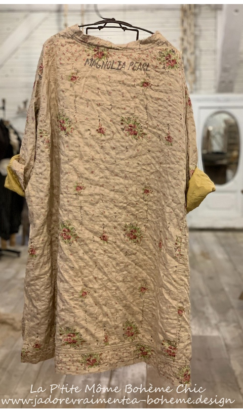 Quilted Silk Oversized Francis Pullover In Provencal