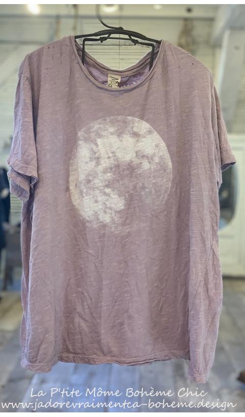 Moon T-Shirt En Beautiful * La Lune S'invite chez vous