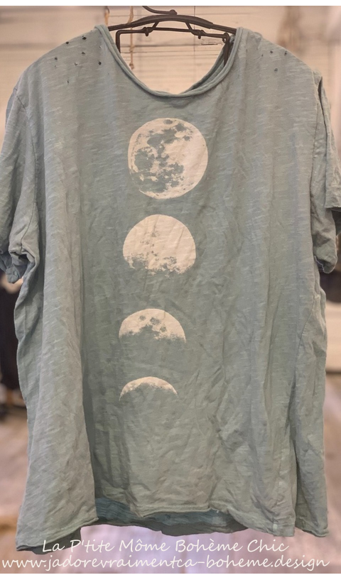 Moon-phase T Top In Texas Sky Boyfriend Cut