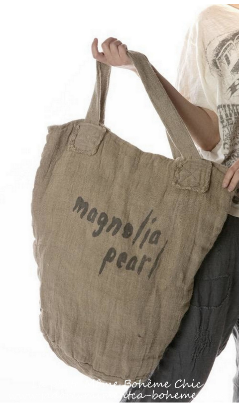 Raw Linen Freedom Of Conscience  Big Shoulder Bag