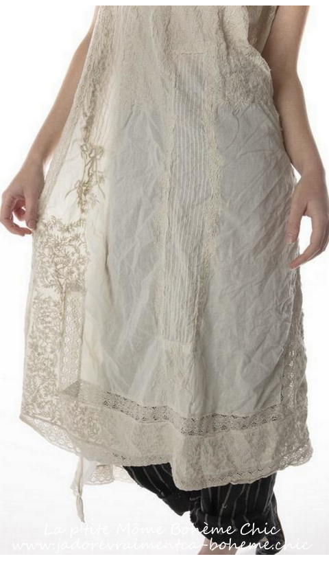 Layla Embroidered Tank Dress with Cotton Lace