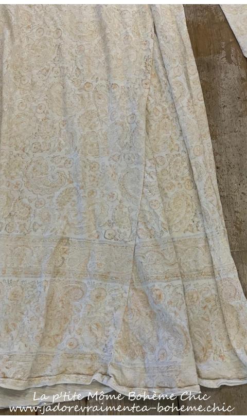 Bali Dylan T Dress Naranja Hand Block Print