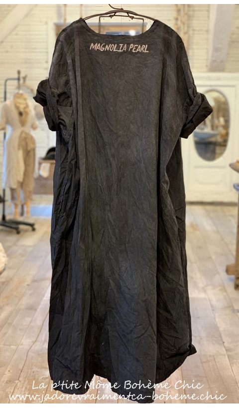 Pieces of Her Artist Smock Poplin Dress In Midnight
