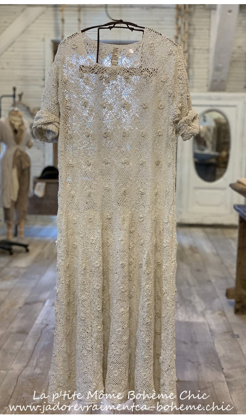 Sherbourne dress in Moonlight Fitted Hand Crochet