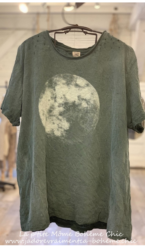 Moon T Top In Verdure Boyfriend Cut