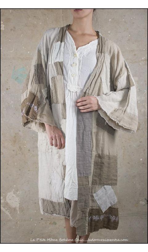Novalie Kimono Redingote à Patch