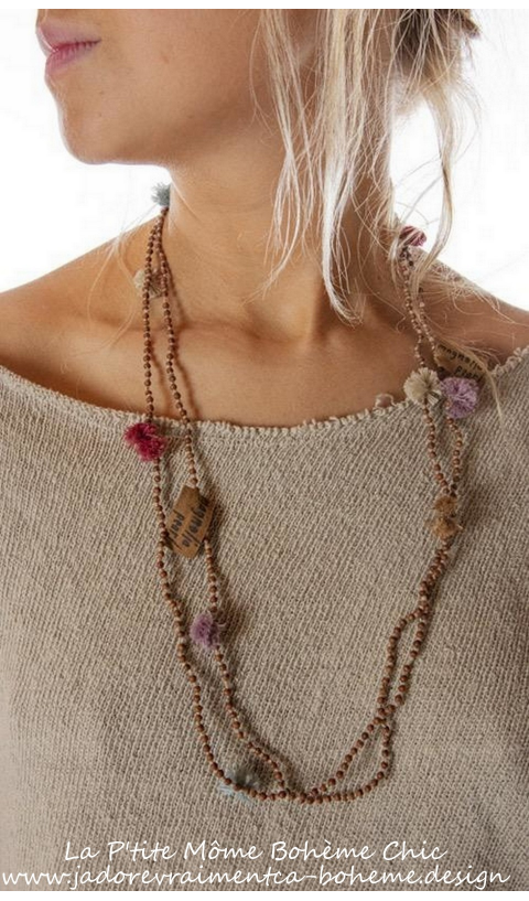 Mala Sandlewood Necklace With Pom Pom