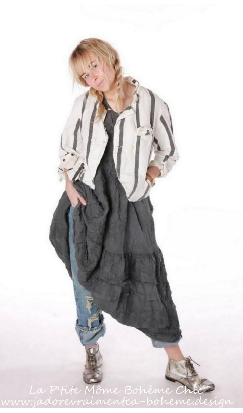 Fredina Suit Pants In Marlene With Fading and Distressing