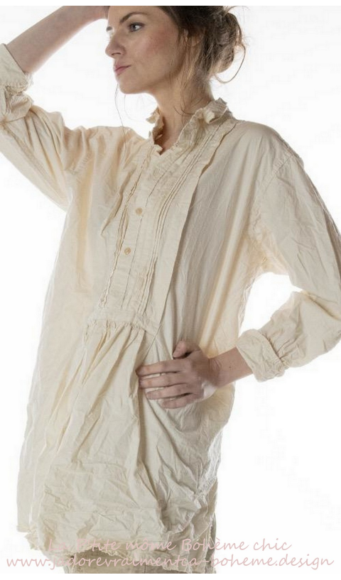 Cordelia Night Shirt En Popeline Natural Une Merveille