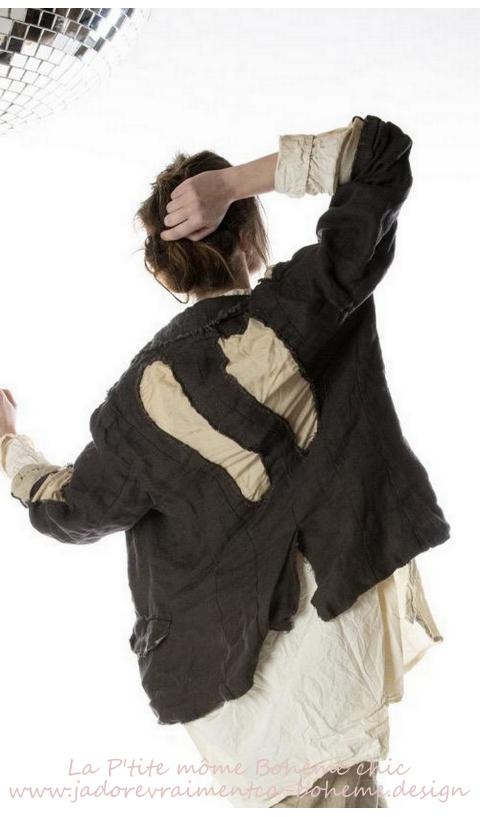 Twill Rag Jacket in Midnight