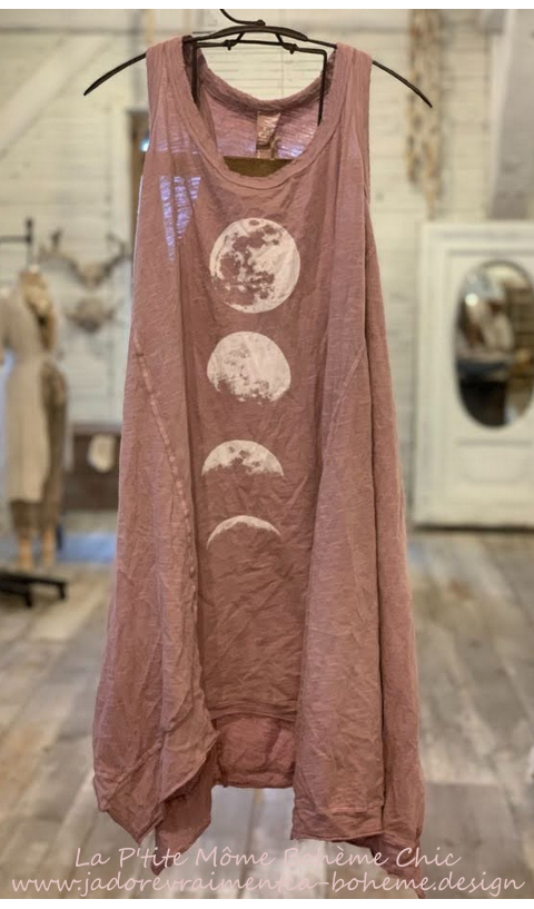 Paz Moon Phase En Beautiful....Tunique....Une Belle Base En Coton Jersey