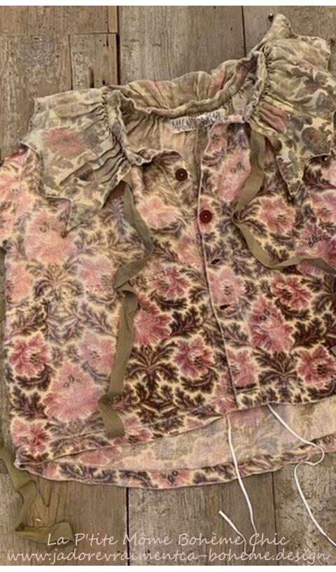 Vesper Une Adorable Veste Très Bohème Imprimé Main