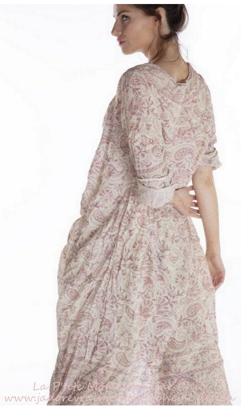 Talulah Artist Smock Dress In Durga with Fading and Raw Edges